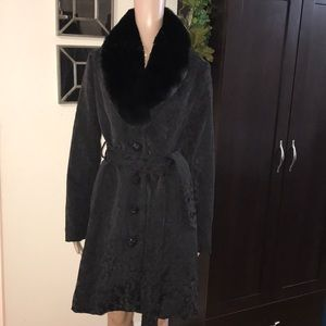 VINTAGE Style Pea Coat w/ Jeweled Buttons